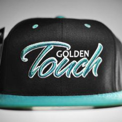 Golden Touch snapback blue