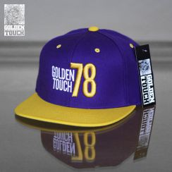 Golden Touch snapback purple yellow